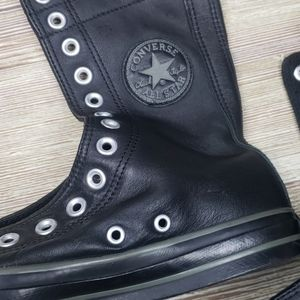 Womens High Rise Leather Converse Sz 6.5